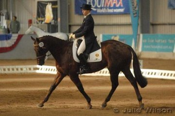 Rebecca Foster from South Australia rode her own Carisbrooke Cool Bananas to score 58 in the CCI** dressage phase..