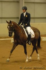 Tasmanian, Prue Calvert and the TB gelding, Jacobite, earned 50.7 in the dressage phase of the CCI* to be in provisional fifth place.