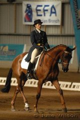 Representing South Australia, Karen Perry rode her own TB gelding, BV Red Devil to score 63.4 in the CCI**.