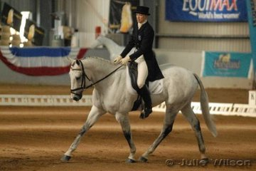 Bianca Craddock from Victoria and her JJ Fortitude scored 64.2 in the dressage phase of the CCI**.