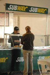 A number of new catering vendors have been included at this year's 3DE. The new Subway stand proved popular.