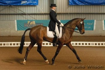 Victorian Stephanie Bender rode her warmblood mare, La li Lu 2 by Lauries Crusador XX to score 62 in the dressage phase of the CCI**.