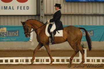 Victorian Charlotte Burns rode Makingground to score 80.8 in the CCI** dressage phase.
