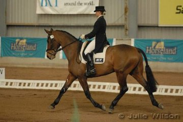 Emma Mason from NSW rode her own and Melody O'Toole's F1 Pharinelli, to score 49.8 and take second place after the dressage phase of the CCI**.