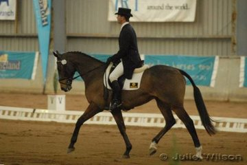 Queenslander, Kevin McNab rode Switch to score 56 in the dressage phase of the CCI**.