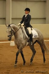 Well-known international rider, Amanda Howell from Somerville in Victoria, rode her TB gelding, TS Cooper to score 45.5 in the dressage phase of the CCI*.