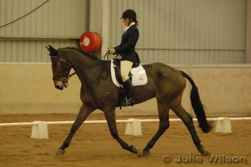 Jessie McCann rode her father's Rob McCanns, Irish Sporthorse, RM Braveheart to score 51 in the dressage phase of the CCI*.