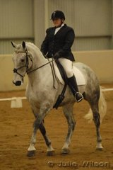 Kim Parsons rode her Percheron X TB, SS Lyric to score 60 in the dressage phase of the CCI*.