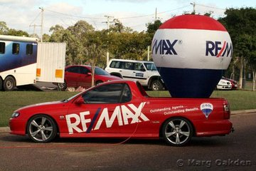 The major sponsor of the Fraser Coast Reining Spectacular was Remax Heritage Real Estate, Maryborough. The company's eye-catching ute with its unusual load was on display over the three days of competition.