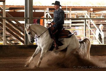 JFT Excavations & Cabling Horse 5 Years & Over Reining competitors, QL What A Secret & Kerry McBride.