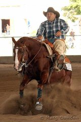 The champions of the Cyril Harris Auto Spares Rookies Professional Reining were Cookie Monster & Darren Simpson.