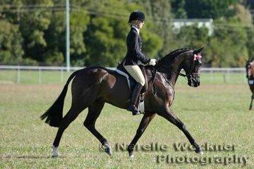 Laura Widdowson riding 'High Profile' to win Champion Small Hack 2007
