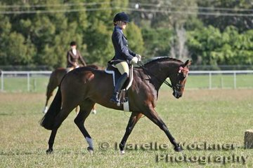 Winner of the Champion Amateur Owner Rider Hack and Reserve Champion Small Hack 2007 'Glencoe Private Benjamin' ridden by Alexia Fraser and exhibited by the Fraser Family