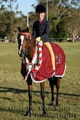 Champion Owner Rider Large Pony Of The Year 'Rathowen Mezaire' ridden by Zanthe Heaton