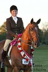 'Feigned' ridden by Emily Wonka won the Champion Owner Rider Hunter Hack Of The Year