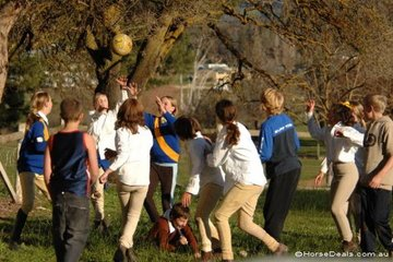 And for those still with plenty of energy at the end of the competition, an improvised football game took place whilst the scores were being organised.