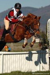 Molly de Crespigny and 'Harry' representing the Benalla Pony Club, won the Grade 3 competition.