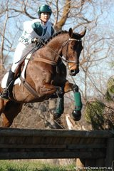 Peta Elstrek from Launching Place rode her 'Bullet Proof' to take second place in the Open Grade 3 competition.