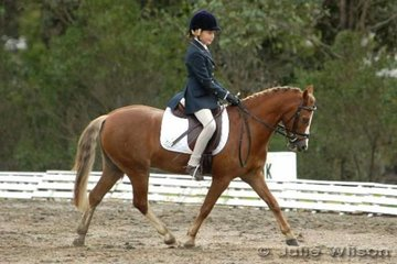 Eliza Babazogi and Sanelling Park Putin On The Ritz competed in the in the Internation Animal Health Pony  1.3.