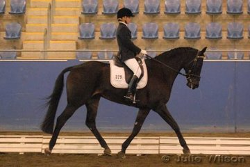Jorie Soderberg and her horse Lorien Park Belafonte with a score of 84% won the Dressage NSW Scholarship Riders 16 years and over.