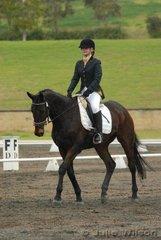 Julianne Noble rode Hughenden Hill in the Hamag Preliminary 1.3.