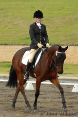 Lucy Simmonds rode Burren Bar Whispering Jack  in the Hamag Preliminary 1.4.