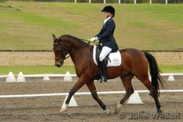 Sancha Butler  rode Gold Shaft Moonshadow to second place in the Ride In Style Pony 3.3.