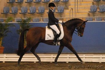 Kaitlin Hull from WA rode Challenger to place fourth in the Australian Warmblood Horse Association NSW Branch FEI Junior Individual