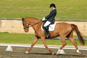 Sophia Michell rode Canterbury Tales in the Agnes Banks Novice 2.4.