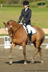 Nicola Gunn rode Arakoola Taliisman to place fourth in the Agnes Banks Novice 2.3 on a score of 64.4%.