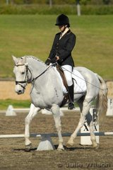 Rebecca Robins and Regal Knight competed in the Agnes Banks Novice 2.3.