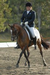 Peta Cormack rode Tinela Lodge Baskare to place second in the Nature Care Company Pony Medium 4.4 on a score of 57.3%.