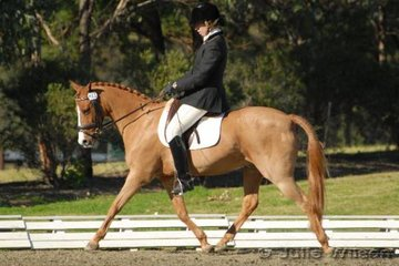Kelly Hattersley and Birchwood Sandpiper placed 6th in the Novice EFA 2.3 NSW State Pony Dressage Championships.