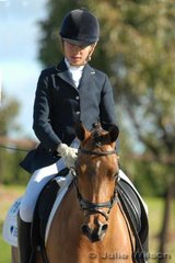 Charlotte Le Hoang rode Jaytee The Maverick to sixth place in the NSW State Pony Championships Novice EFA 2.4.