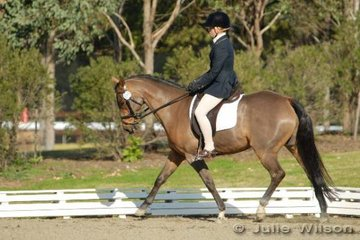 Candice McIntyre and Farliegh Zebedee competed in the NSW State Pony Championships Novice EFA 2.3.