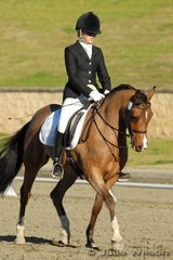 Tiffany Bignold rode her Part Welsh/Arabian Pony, Glo Brook Legend to win the NSW State Pony Dressage Medium EFA 4.4.