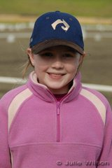 Jessica Blackmoore had a busy weekend both riding and working hard as a runner collecting score sheet.