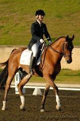 Vanessa Midwinter rode Smooth Criminal in the Crispin bennett international Horse Transport Elementary 3.3.
