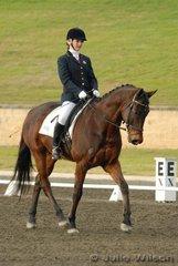 Andrea Towndrow rode Horatio in the Crispin Bennett International Horse Transport Elementary 3.4.