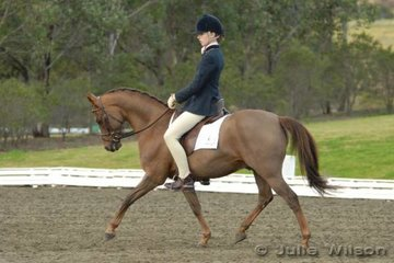 Anneliese Ball rode Lttle Paddocks Mikado in the NSW State Pony Dressage Championships Elementary EFA 3.4 to take out fifth place.