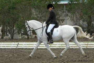 Mary Bokey rode Marena Gaiety in the NSW State Pony Dressage Championships Elementary EFA 3.4.