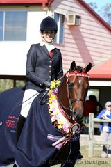 Champion Galloway was Cedar Lakes Love Note ridden by Courtney Midson