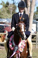Champion Large Ridden Pony was Nina George & Rathowen Scarlett Ribbons
