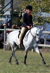 Amber Whittington rode Tundra Park Holly in Small Ridden Pony