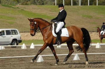 Victorian David Middleton rode Mr. Shirvington to score 59.8 in the CNC** dressage and finished in third place overall on a score of 63.