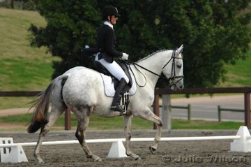 Tonia Gray and Pepper's Edge competed in the Pre-Novice Division 1.