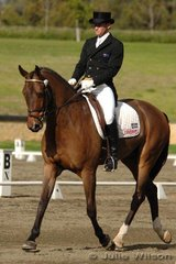 Stuart Tinnety rode Kinnordy Godehard to score 54.8 in the dressage section of the CNC**. Stuart also rode Ari-De Gwaihir in the same class to score 50.4.