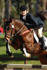 Jessica Irvine-Brown rode Stanley in the Preliminary Division 1.