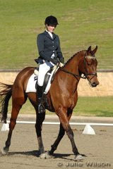 Mattea Bowman and Kelecyn Warrior rode into gale force winds during the afternoon dressage session of the CNC* Division 1.