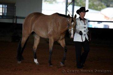 Andrea Kliendienst & Koolibah Bell competed in Amateur Owner Showmanship
